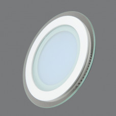 705R-12W-6000K Светильник встраиваемый,круглый,со стеклом,LED,12W